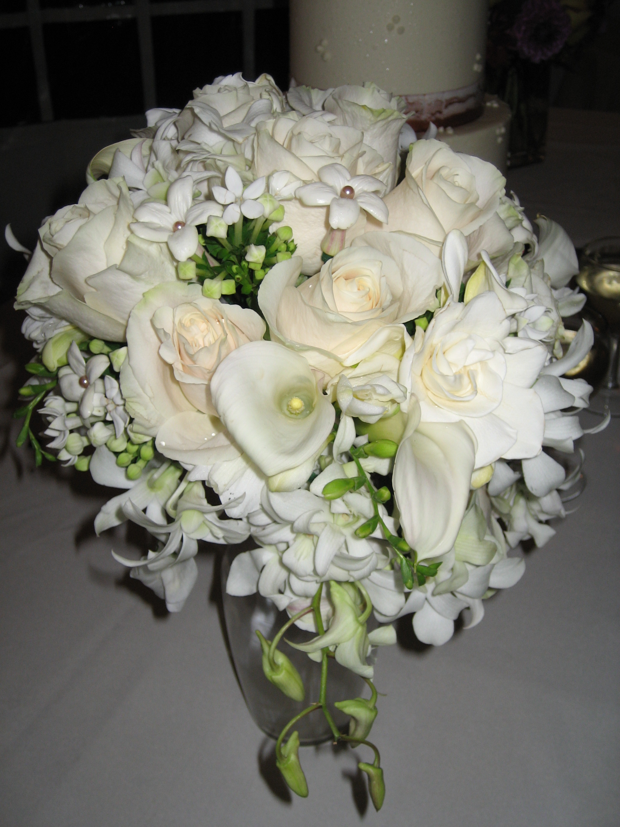 how to make a hand tied cascading bridal bouquet