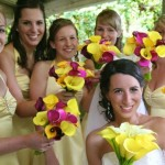 calla lilly brides bouquet and bridesmaids