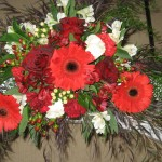 March 2013 Red gerbera and carnation Wedding ceremony swag