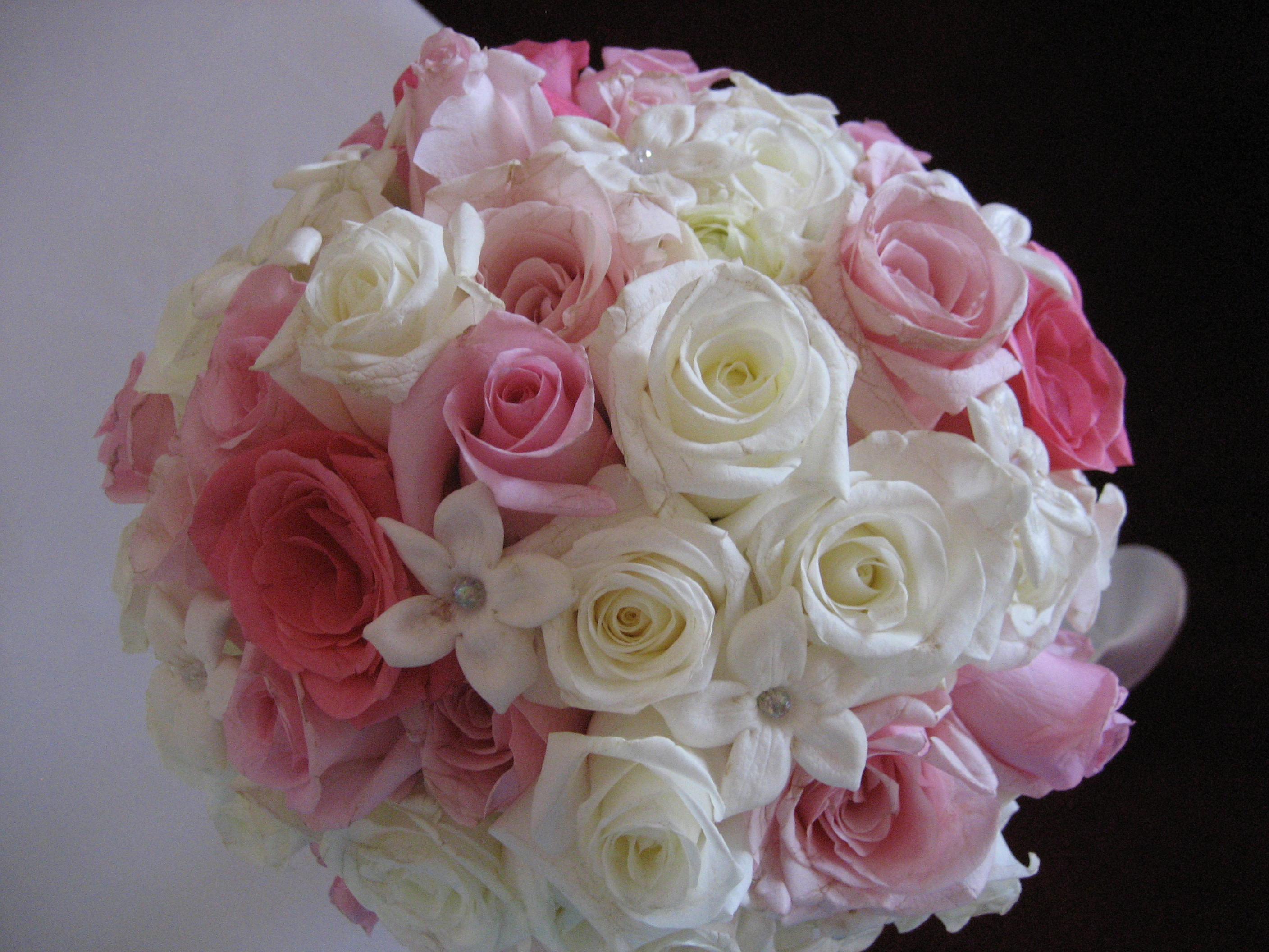 pink rose wedding bouquet bridal bouquets 6592